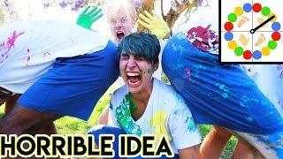 Messy Paint Twister in Public