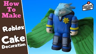 How to Make a ROBLOX FIGURE with GREEN WINGS Cake Decoration Tutorial by Caketastic Cakes