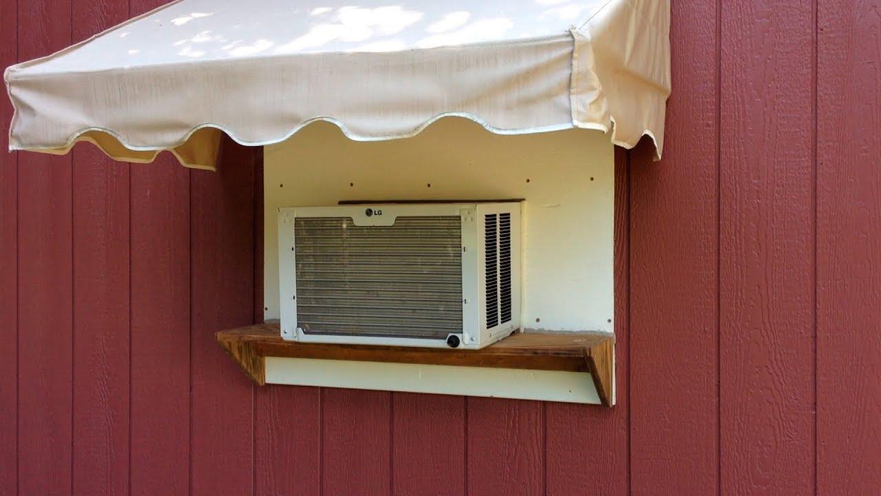 Window Ac Mini Barn Installation Youtube