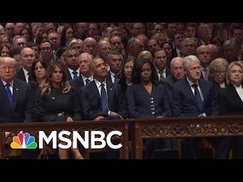 Former Presidents Sit Together In National Cathedral To Honor H.W. Bush | MSNBC