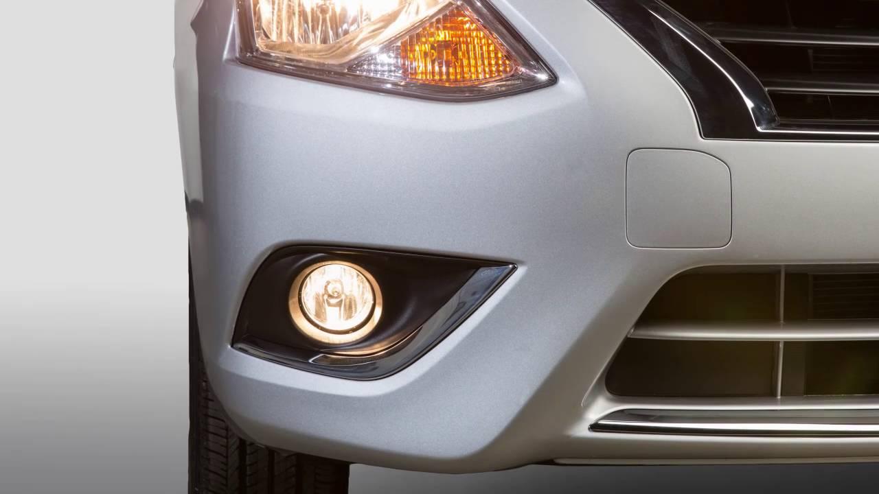 2017 nissan versa sedan headlights and exterior lights youtube
