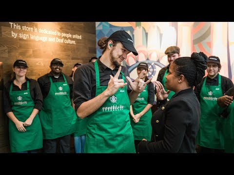 Starbucks Opens First Sign Language Store For Deaf and Hearing Impaired Customers