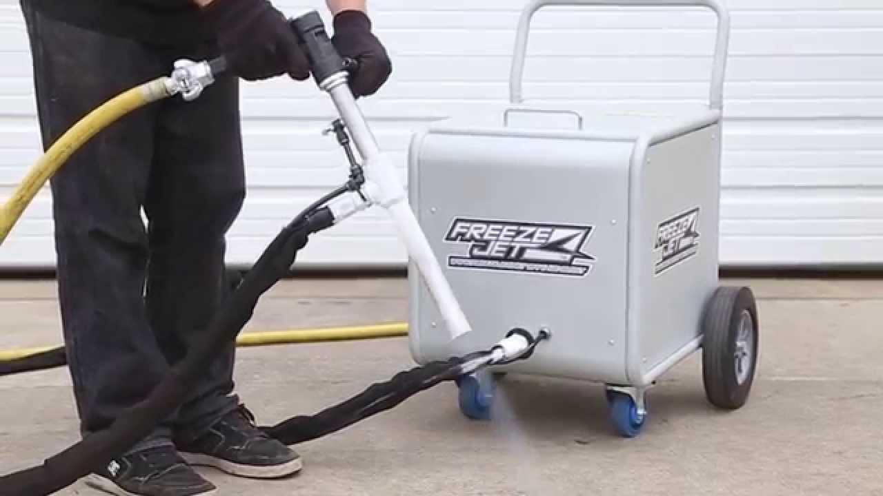 Freeze Jet Dry Ice Blasting Machine Youtube