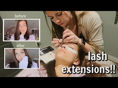 Get Eyelash Extensions With Me:)