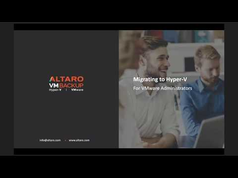 Migrating to Hyper V for VMware administrators