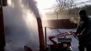 Самодельный снегоуборщик для мотоблока Хопер 9 л.с видео 3
