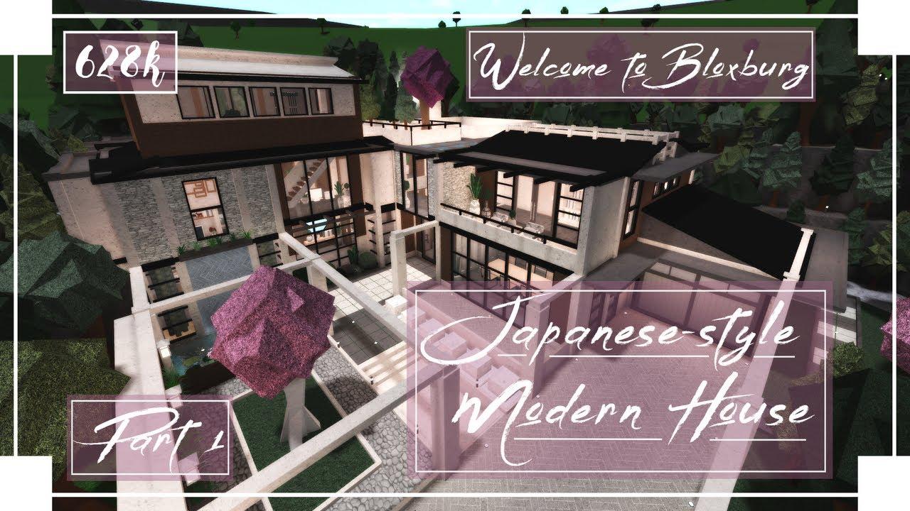 Japanese Style Modern House Speedbuild Part 1 5 Roblox