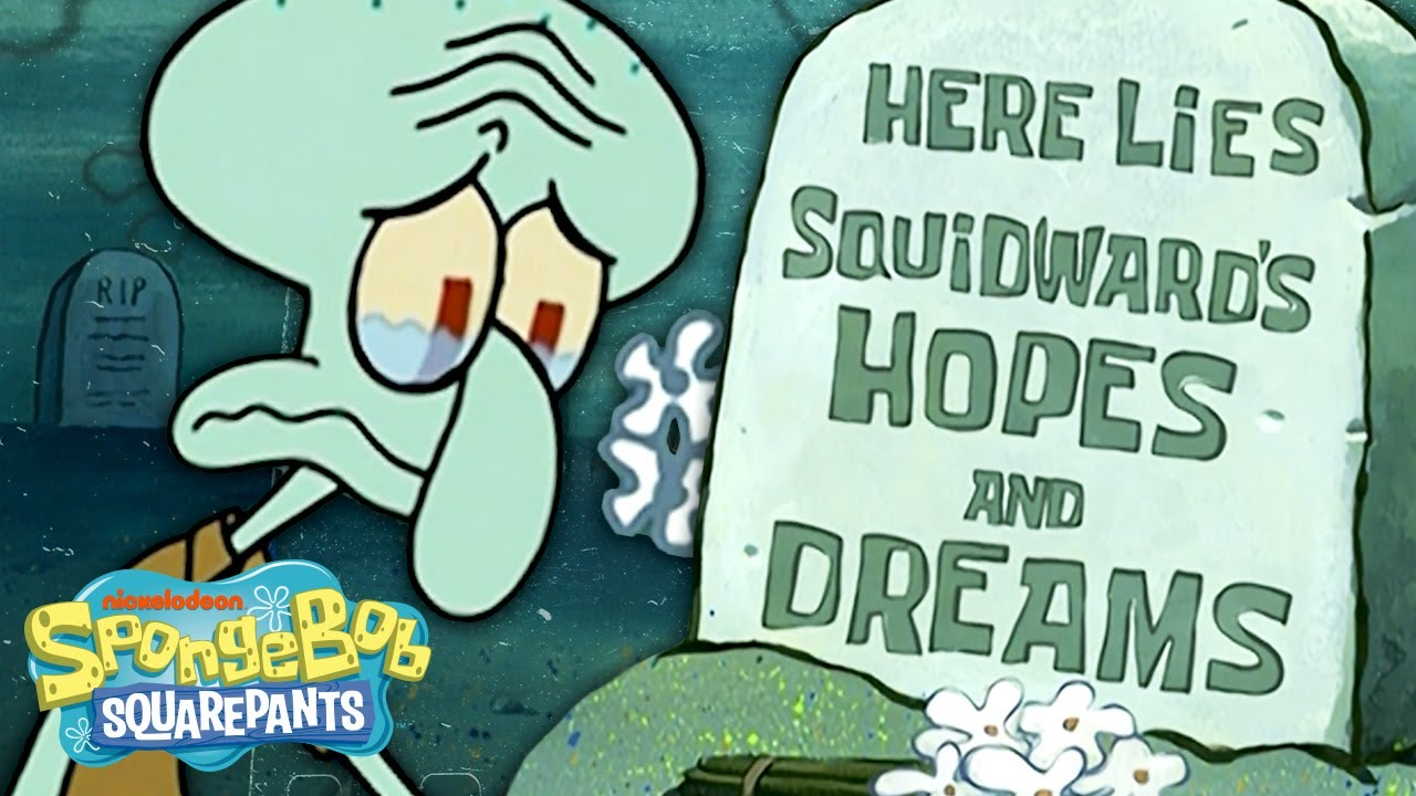 Squidward Being a Mood 🦑 Most Relatable Moments | SpongeBob