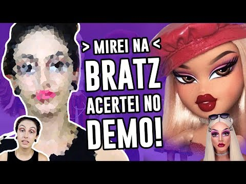 TENTEI FAZER MAKE DA BONECA BRATZ - Bratz Challenge  Luma Show