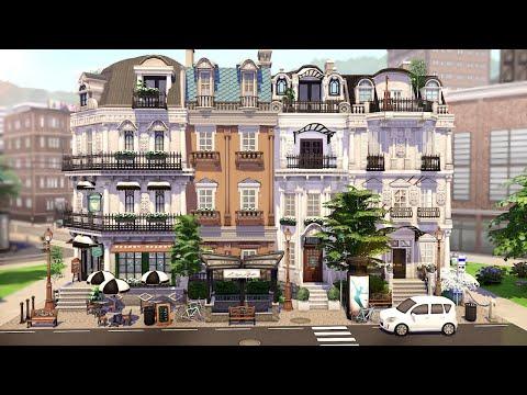 PARISIAN TOWNHOUSES 🥖| THE SIMS 4 - Speed Build (NO CC)