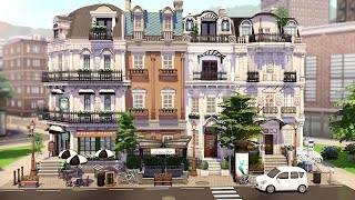 PARISIAN TOWNHOUSES 🥖 | THE SIMS 4 - Speed Build (NO CC)