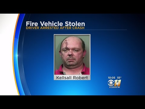 Man Who Allegedly Stole Fort Worth Fire SUV, Bloodied And Busted