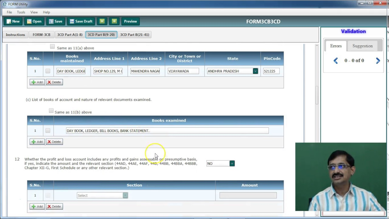Quick and easy way to fill tax audit report