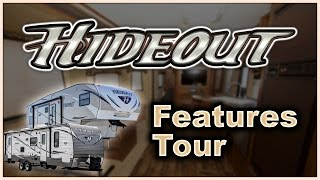 Keystone Hideout RV 2016 Travel Trailer and 5th Wheel Features Tour Video Review