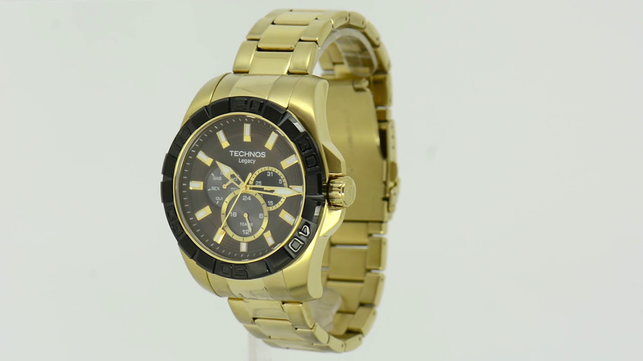 Relógio Technos Masculino Classic Legacy 6P29AIO 4M - Eclock - YouTube f5c72ef767