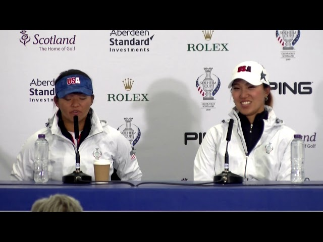 Megan Khang and Annie Park Address the Media Ahead of the 2019 Solheim Cup