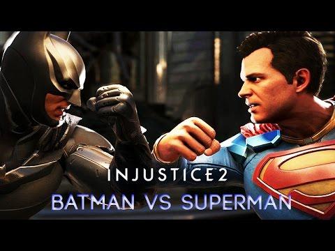 Batman vs Superman (INJUSTICE 2) Rival Clashes, Intros, Super Moves