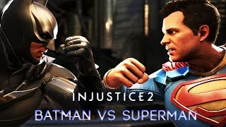 Batman vs Superman (INJUSTICE 2) Rival Clashes, Intros, Super Moves