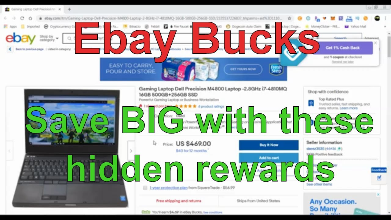 Saving: Ebay Bucks - A Hidden Rewards Program - How to save BIG on your ebay shopping!
