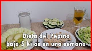 Dieta Del Pepino Baja 5 Kilos En Una Semana Youtube