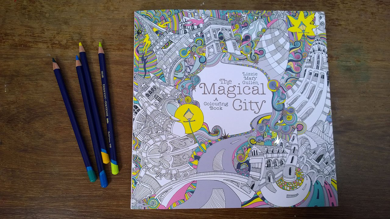 The Magical City Walk Through Of The Colouring Pages Youtube