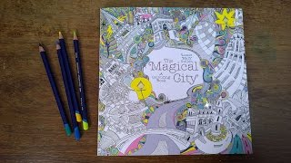 The Magical City.  Walk through of the colouring pages.