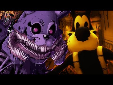 TWISTED BONNIE ATTACKS ME WITH BORIS! | FNAF Nightmares (Five Nights at Freddys)