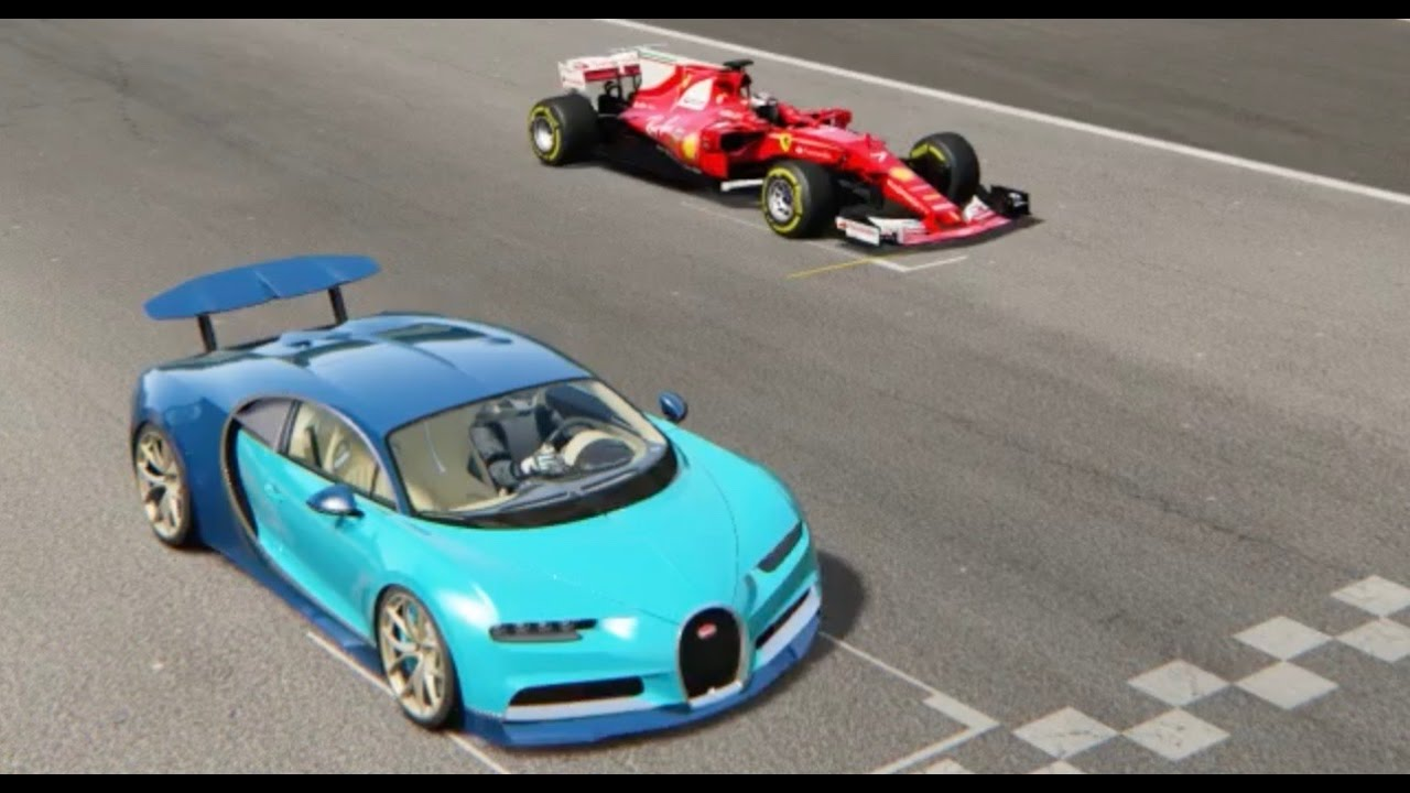 Ferrari F1 2017 vs Bugatti Chiron - Imola - YouTube