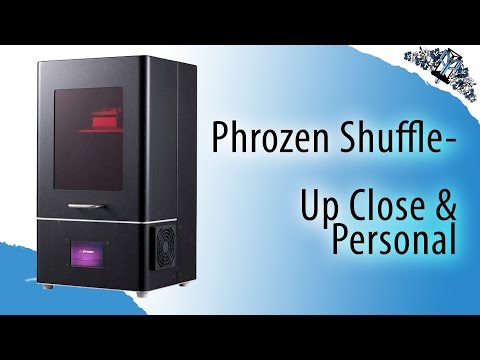 Frozen Shuffle SLA Printer - Up Close & Personal - YouTube