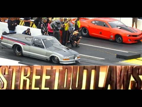 WILD RACE Larry Larson vs Fireball camaro STREET OUTLAWS NO PREP KINGS
