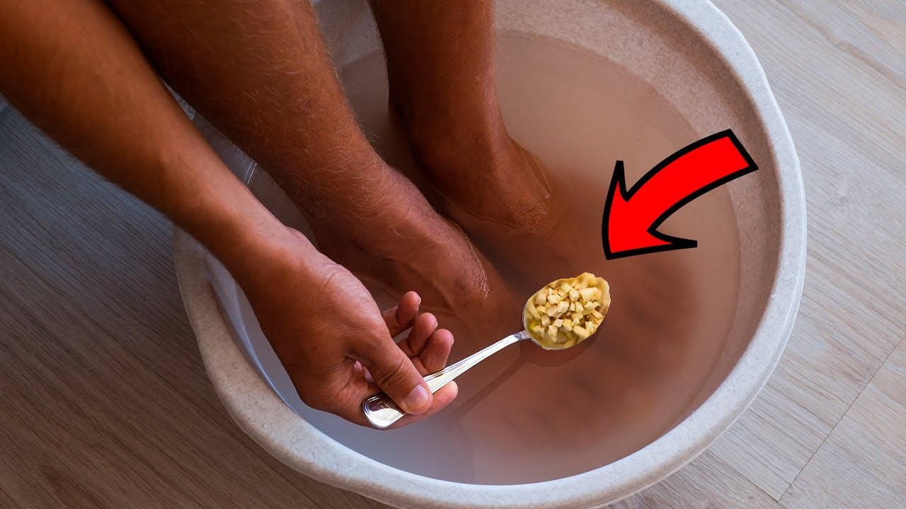 Ginger Foot Soak to Warm and Relax the Body and Improve Circulation