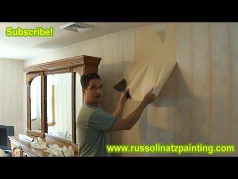 DIY How to Remove Wallpaper (Part 1) - Drywall repair ...