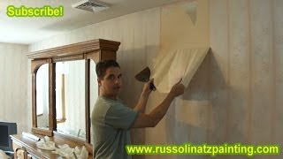 DIY How to Remove Wallpaper (Part 1) - Drywall repair & Wall Preparation