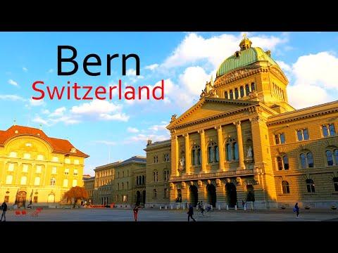 Bern Switzerland 4K   Capital of Switzerland   Old Town Walk