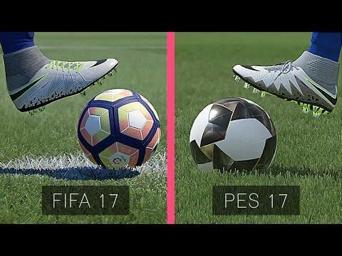 FIFA 17 Vs  PES 17: Graphics Comparison