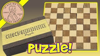 Checkerboard Puzzle - It's Like A Jigsaw Puzzle - Solution!