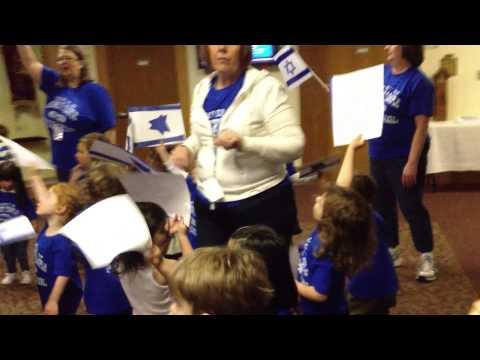 Barnert Temple Preschoolers singing Hatikvah
