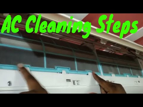 LLOYD Air Conditioner Cleaning Steps||How To Remove Air Filter And Clean Easily