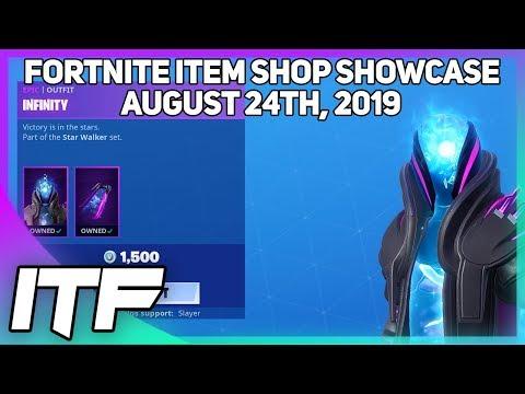Fortnite Item Shop *NEW* INFINITY SKIN SET! [August 24th, 2019] (Fortnite Battle Royale)