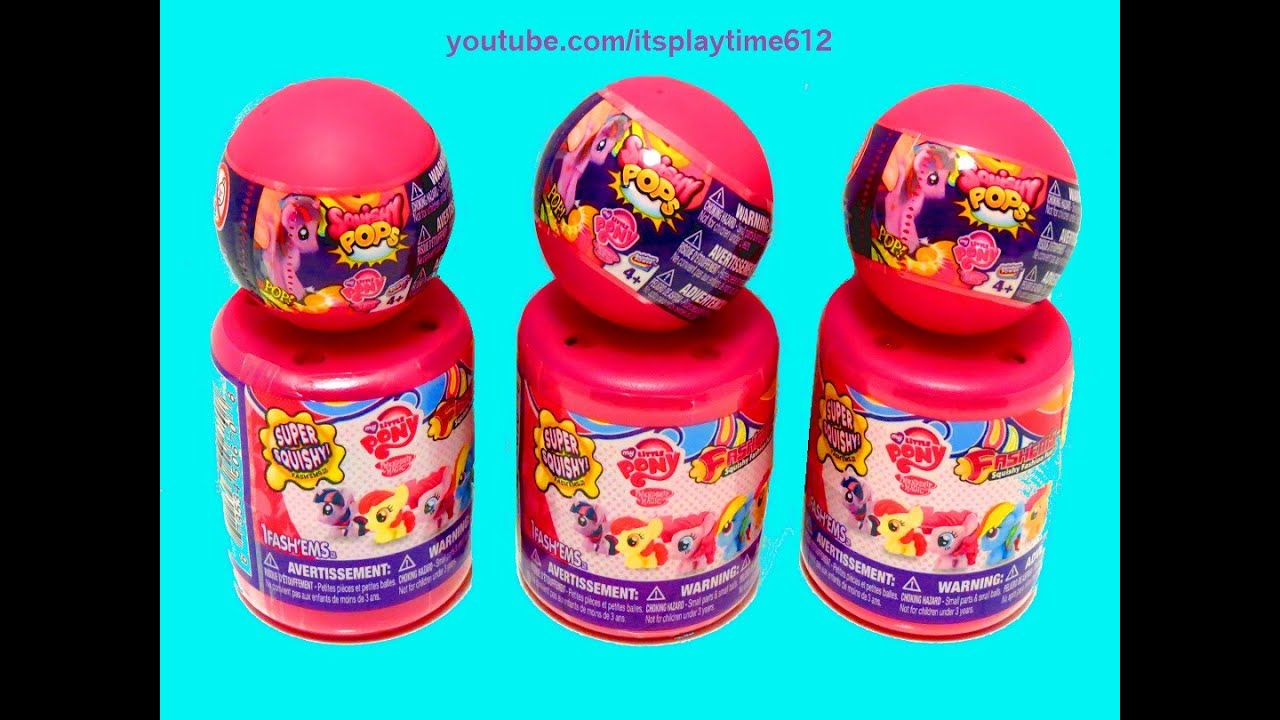 Squishy Pops Blind Bags : My Little Pony Surprise Blind Bags Fashems Squishy Pops - itsplaytime612 - YouTube