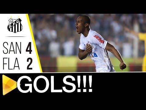Santos 4 x 2 Flamengo | GOLS | Copa do Brasil (26/07/17)