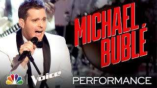 "Four-Time Grammy Winner Michael Bublé Performs ""Christmas (Baby Please Come Home)"" - The Voice 2020"