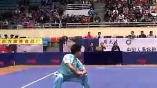 2012年全国武术套路锦标赛 男子长拳  047 孙培原(山东)第二名
