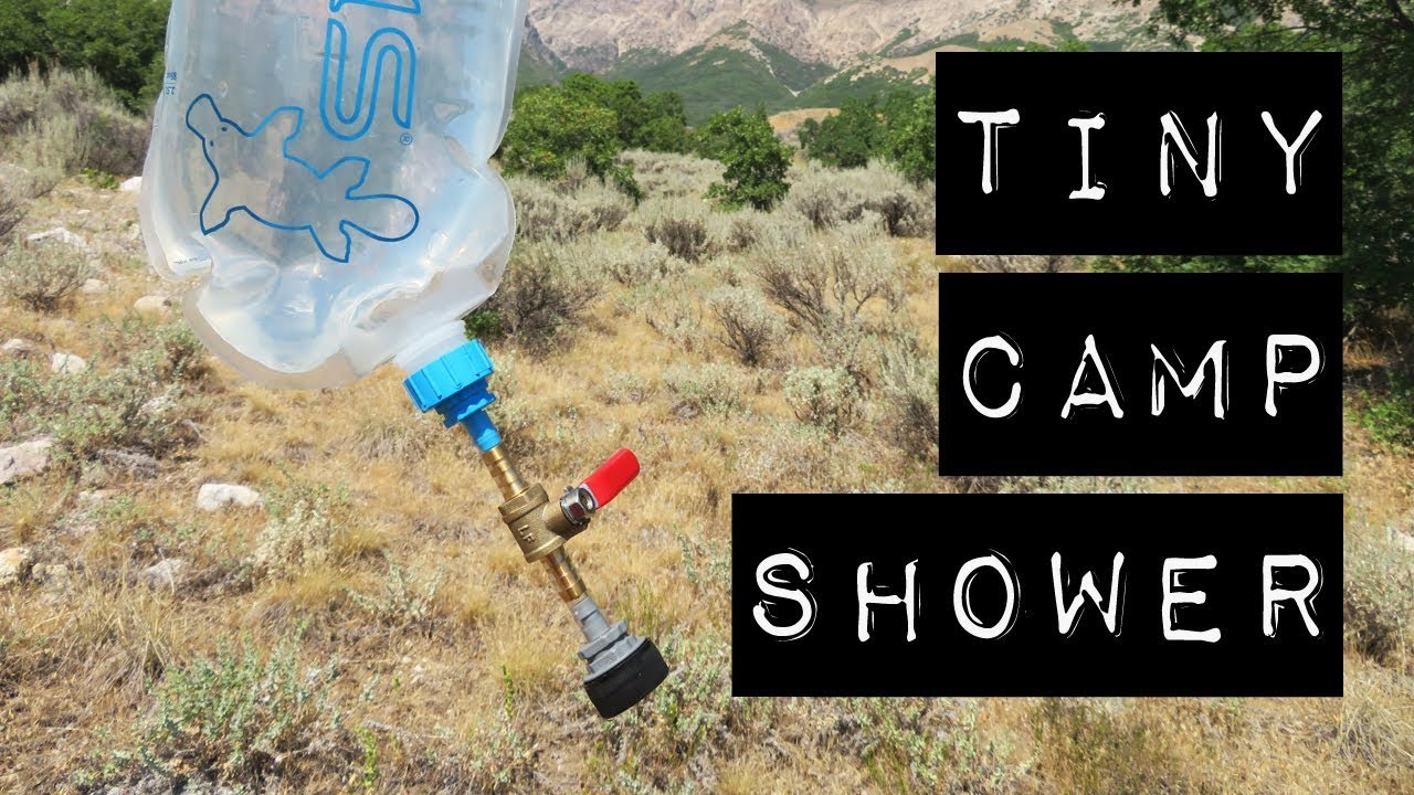 Tiny Diy Portable Solar Camp Shower Compact Ultralight For Car Camping