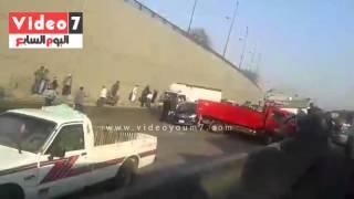صحافة المواطن..بالصور.. ننشر تفاصيل تحطم 7 سيارات بحادث نفق السلام