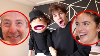 SURPRISING BEST FRIEND WITH PUPPET OF HIMSELF!!