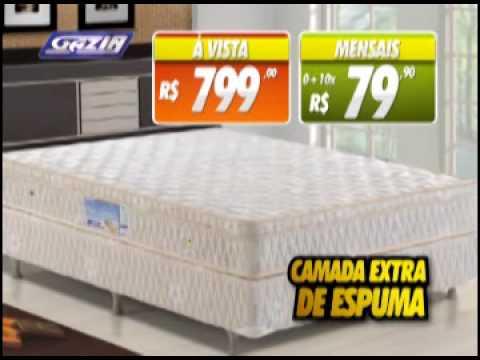 Vt cama box gazin 10x sem juros e sem youtube for Cama quinsay
