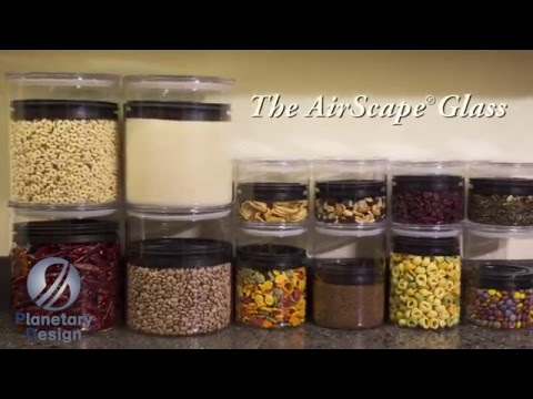 AirScape Glass Kitchen Canister for Food Storage by Planetary Design