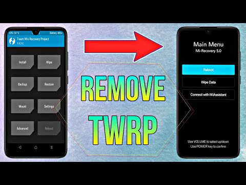 [MIUI12] Remove Any Custom Recovery TWRP Permanently On Any Xiaomi Phone  Get Back MI Stock Recovery