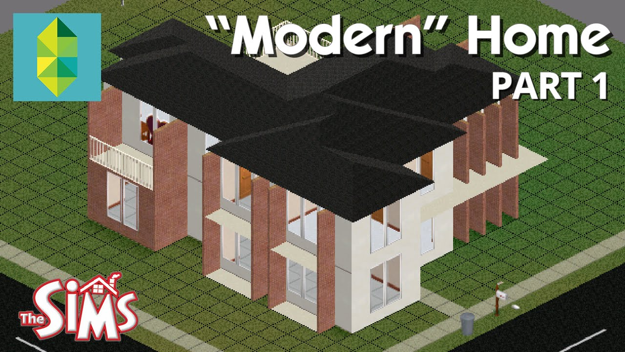 """Let's Build A """"Modern"""" Home In The Sims 1 Part 1 YouTube"""